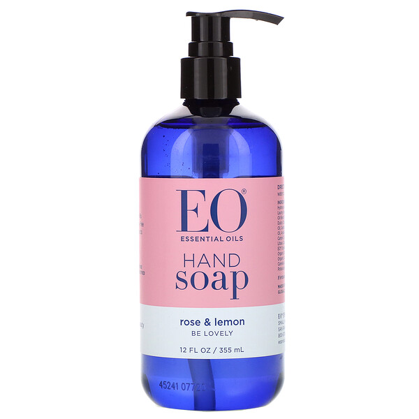 EO Products, Hand Soap, Rose & Lemon, 12 fl oz (355 ml) (Discontinued Item)