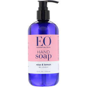 EO Products, Hand Soap, Rose & Lemon, 12 fl oz (355 ml)'