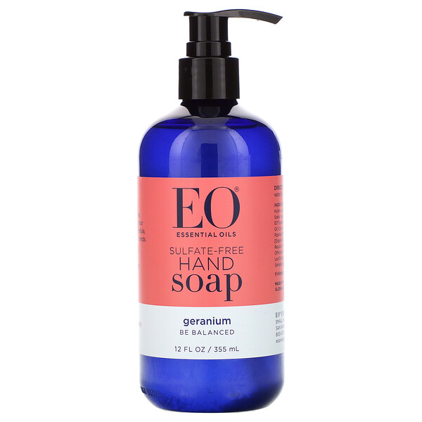 EO Products, Savon pour les mains, Géranium, 355 ml (Discontinued Item)