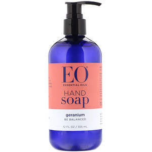 EO Products, Hand Soap, Geranium, 12 fl oz (355 ml)