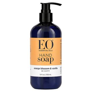 EO Products, Hand Soap, Orange Blossom & Vanilla, 12 fl oz (355 ml)