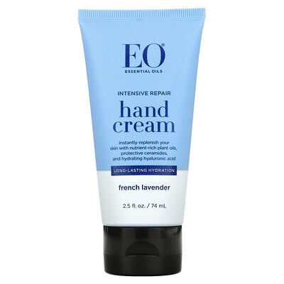 EO Products Intensive Repair Hand Cream, French Lavender, 2.5 fl oz (74 ml)