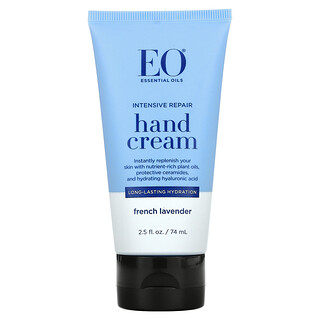 EO Products, Intensive Repair Hand Cream, French Lavender, 2.5 fl oz (74 ml)