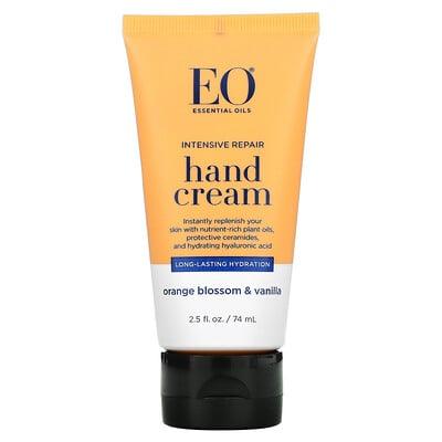 EO Products Intensive Repair Hand Cream, Orange Blossom & Vanilla, 2.5 fl oz (74 ml)