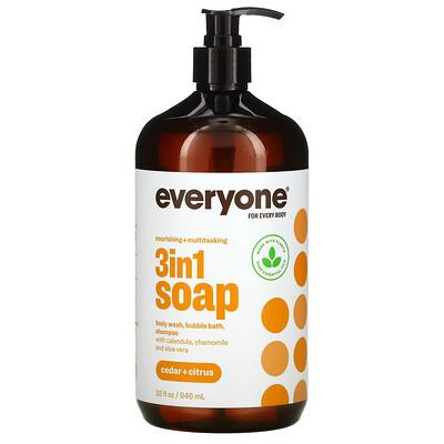 EO Products 3in1 Soap, Cedar + Citrus, 32 fl oz (946 ml)