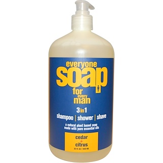 EO Products, Everyone Soap for Every Man, Cedar + Citrus, 32 fl oz (960 ml)