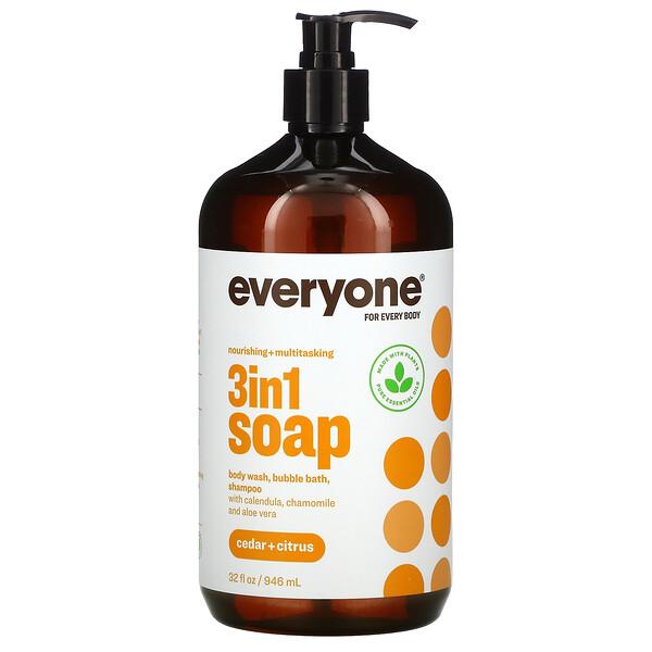 3in1 Soap, Cedar + Citrus, 32 fl oz (946 ml)