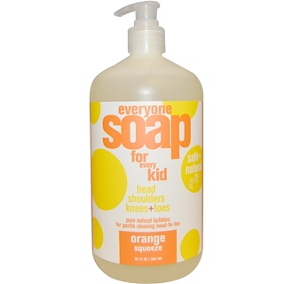 EO Products, Everyone Soap for Every Kid, Orange Squeeze, 32 fl oz (960 ml)
