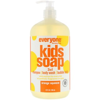 EO Products, Everyone for Every Body, Kids Soap, 3 in 1, Orange Squeeze, 32 fl oz (946 ml)