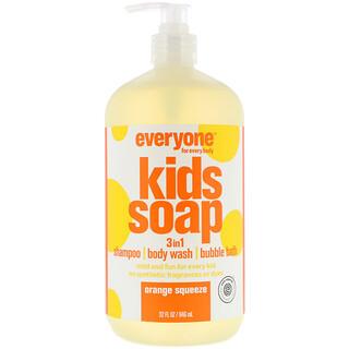 EO Products, 全てのお子様向けエブリワンソープ、オレンジ果汁、32液量オンス (960 ml)