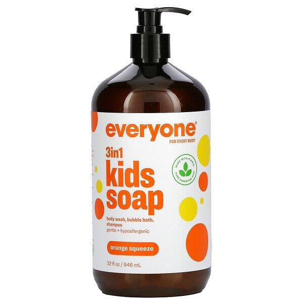 Everyone for Every Body, 3 in 1 Kids Soap, Orange Squeeze, 32 fl oz (946 ml)