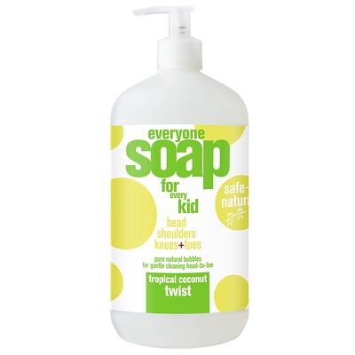 EO Products Everyone兒童液體皂,熱帶椰子,32液盎司(960毫升)