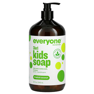 Everyone, 3 in 1 Kids Soap, Tropical Coconut, 32 fl oz (946 ml)
