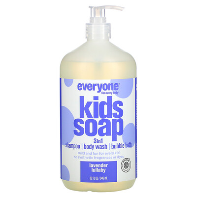 EO Products Everyone for Every Body, 3 in 1 Kid Soap, Lavender Lullaby, 32 fl oz (946 ml)