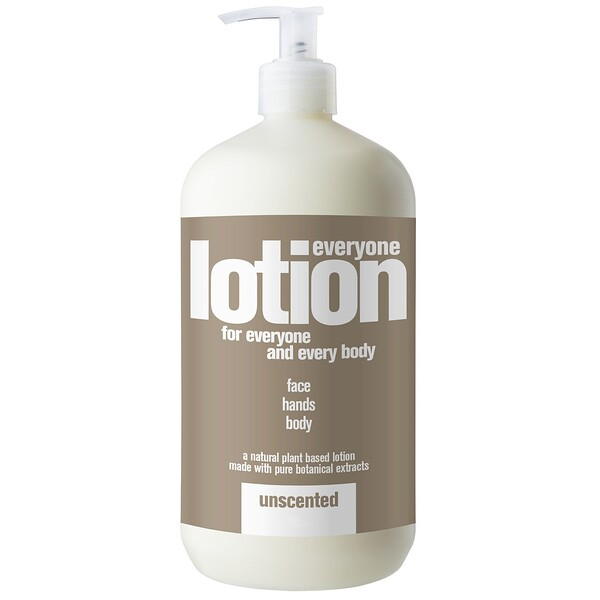 EO Products, Everyone Lotion for Everyone and Everybody, Unscented, 32 fl oz (960 ml) (Discontinued Item)