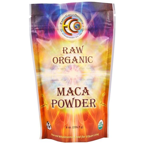 Earth Circle Organics, 가공하지 않은 유기농 마카 파우더 8oz(226.7g)