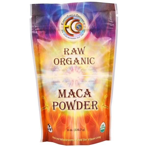 Earth Circle Organics, ロー・オーガニック・マカ・パウダー、8 oz (226.7 g)