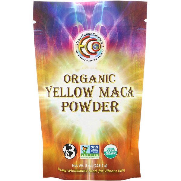 Earth Circle Organics, Organic Yellow Maca Powder, 8 oz (226.7 g)