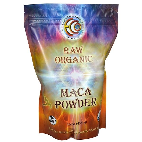 Earth Circle Organics, 무가공 유기농 마카 분말, 16 oz (454 g)