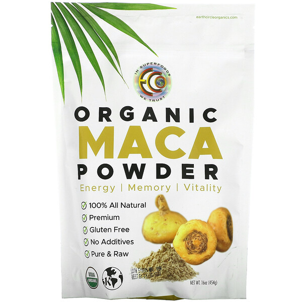 Earth Circle Organics, Organic Maca Powder, 16 oz (454 g)