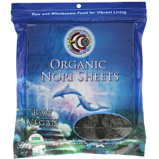 Earth Circle Organics, 寿司用有機のり, 常温処理, 50枚