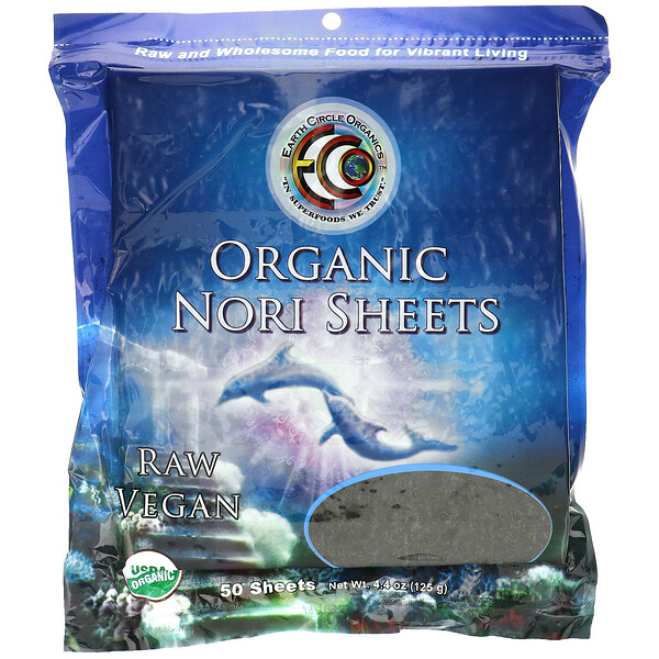 Earth Circle Organics, Organic Nori Sheets, 50 Sheets, 4.4 oz (125 g)