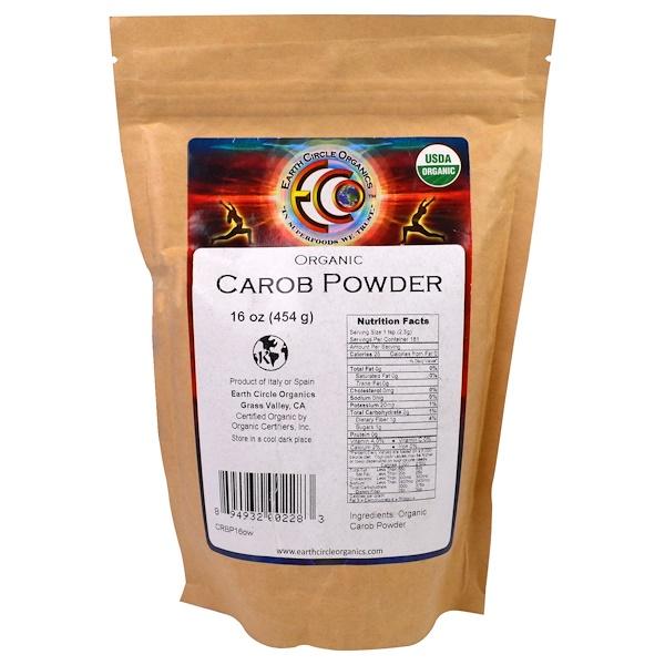 Earth Circle Organics, Organic Carob Powder, 16 oz (454 g) (Discontinued Item)