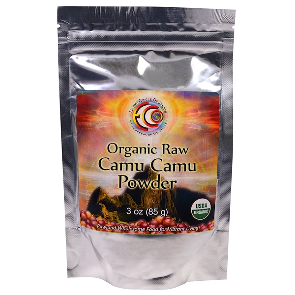 Earth Circle Organics, Organic Raw Camu Camu Powder, 3 oz (85 g) (Discontinued Item)