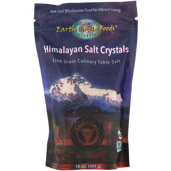 Himalayan Salt Crystals, Fine Grain, 16 oz (454 g)