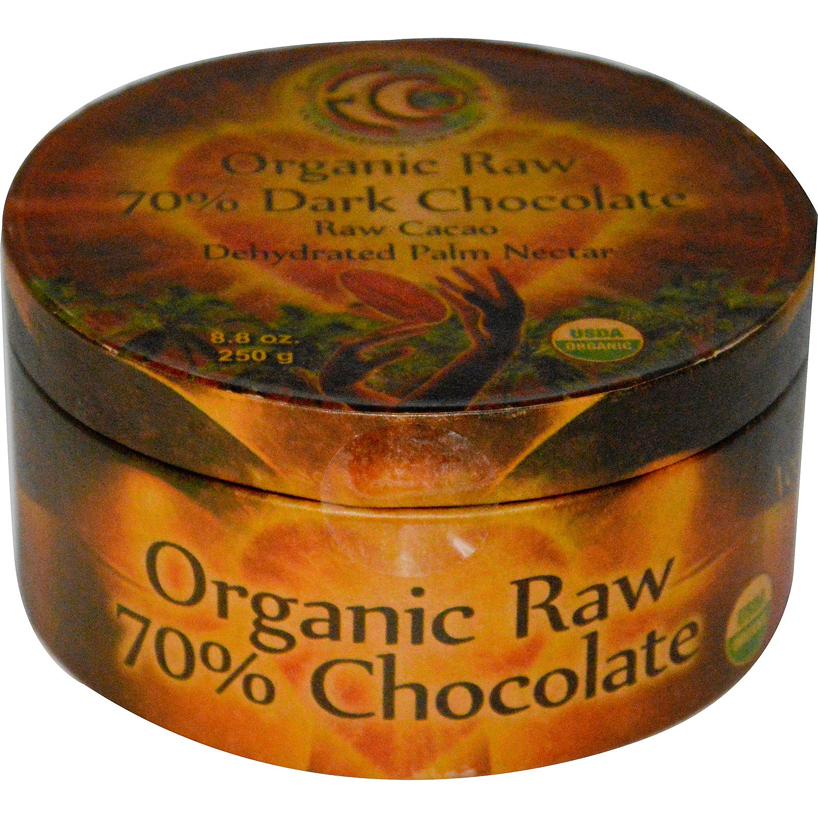 Earth Circle Organics, Organic Raw 70% Dark Chocolate, 8.8 oz (250 g ...