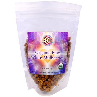 Earth Circle Organics, Organic Raw White Mulberries, 8 oz (226.7 g)