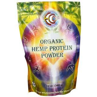 Earth Circle Organics, オーガニックヘンププロテインパウダー、 12オンス (340 g)