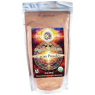 Earth Circle Organics, مسحوق الكاكاو الإكوادوري، 16 أونصة (454 جم)