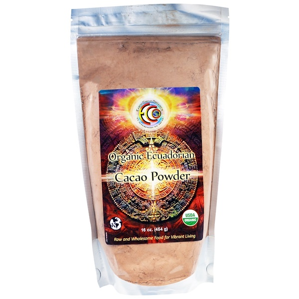 Earth Circle Organics, Organic Ecuadorian Cacao Powder, 16 oz (454 g) (Discontinued Item)