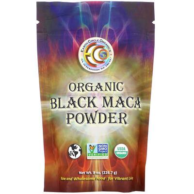 Earth Circle Organics Organic Black Maca Powder, 8 oz (226.7 g)