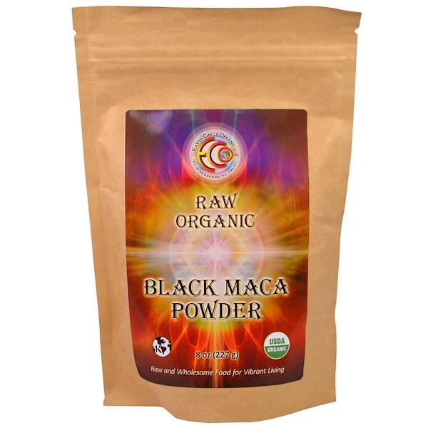 Earth Circle Organics, Raw Organic Black Maca Powder, 8 oz (227 g) (Discontinued Item)