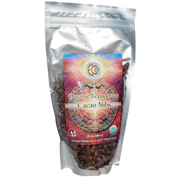 Earth Circle Organics, Organic Ecuadorian Cacao Nibs, 16 oz (454 g) (Discontinued Item)