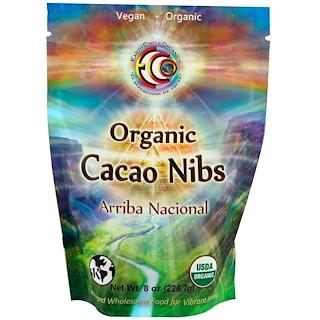 Earth Circle Organics, オーガニックアリバナショナルカカオニブズ、8オンス(226.7g)