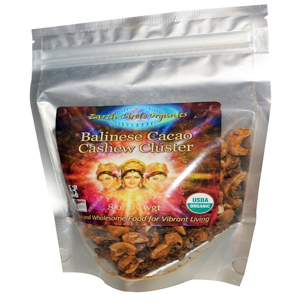 Earth Circle Organics, Balinese Cacao Cashew Cluster, 8 oz (Discontinued Item)