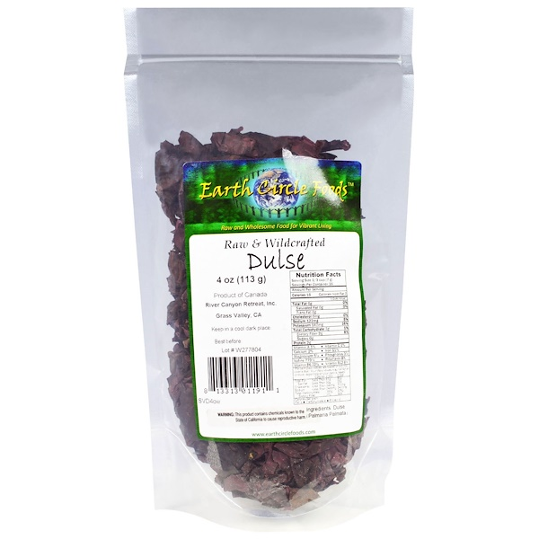 Earth Circle Organics, Raw & Wildcrafted Dulse, 4 oz (113 g) (Discontinued Item)
