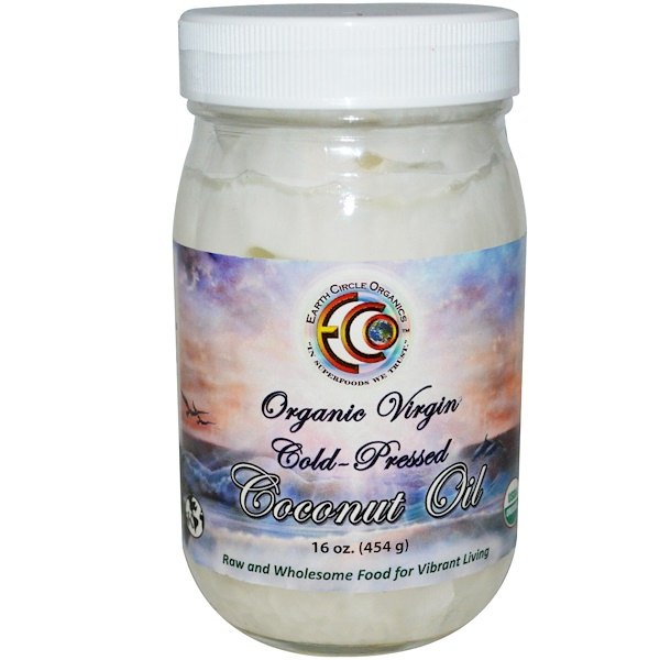 Earth Circle Organics, Coconut Oil, Organic, Virgin, 16 oz (454 g) (Discontinued Item)