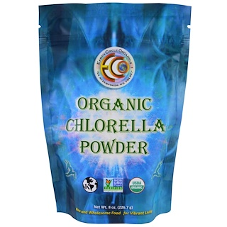 Earth Circle Organics, Organic Chlorella Powder , 8 oz (226.7 g)