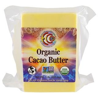 Earth Circle Organics, オーガニックカカオバター, 1 lb (453.4 g)
