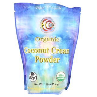 Earth Circle Organics, Organic Coconut Cream Powder, 1 lb (453.5 g)