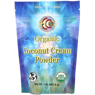 Earth Circle Organics, مسحوق كريم جوز الهند العضوي، 1 رطل (453.5 غرام)