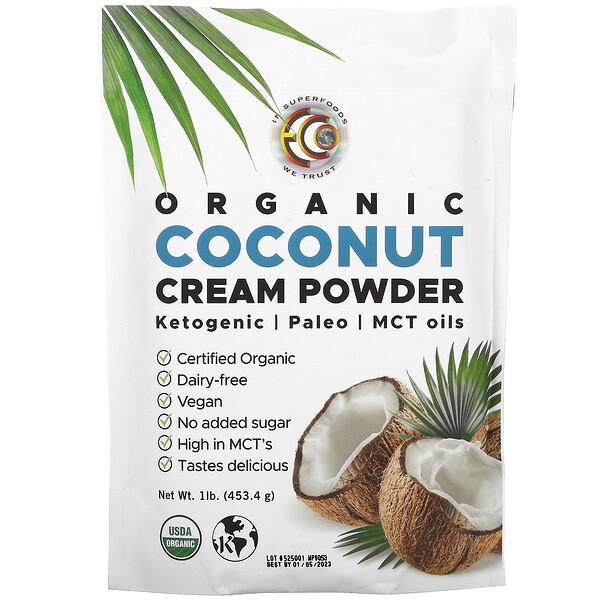 Earth Circle Organics, 유기농 코코넛 크림 파우더, 453.4g(1lb)