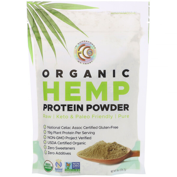 Earth Circle Organics, Organic Hemp Protein Powder,  8 oz (226.7 g)