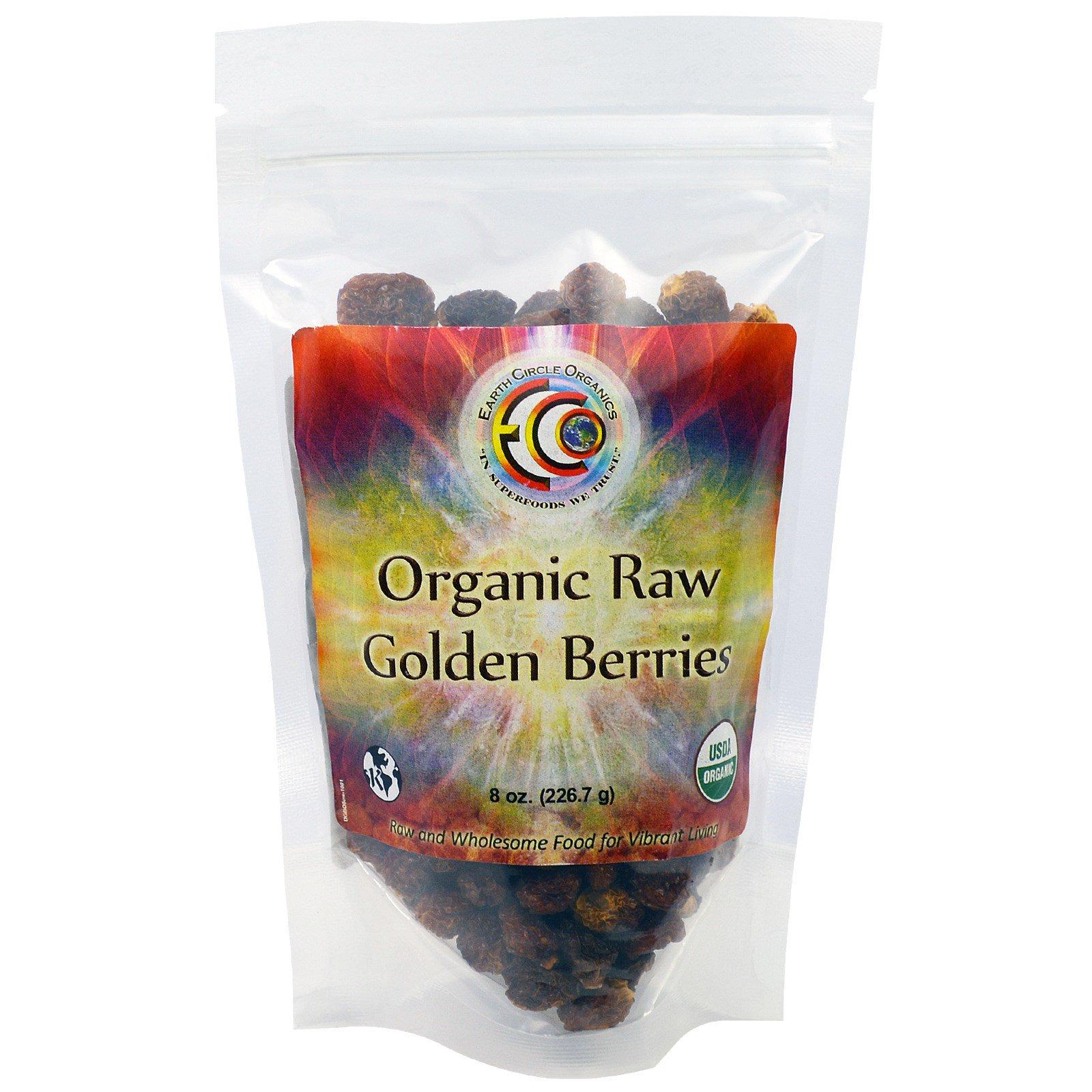 Earth Circle Organics, Сырые Органические Золотые Ягоды, 8 унций (226,7 г)