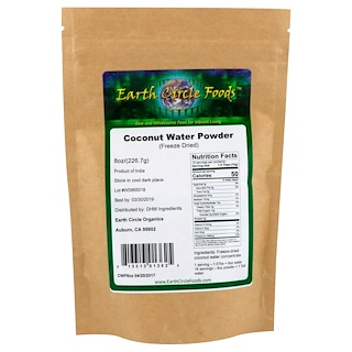 Earth Circle Organics, Coconut Water Powder, Freeze Dried, 8 oz (226.7 g)