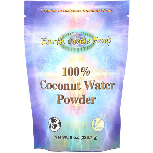 Earth Circle Organics, 100% Coconut Water Powder, 8 oz (226.7 g) (Discontinued Item)